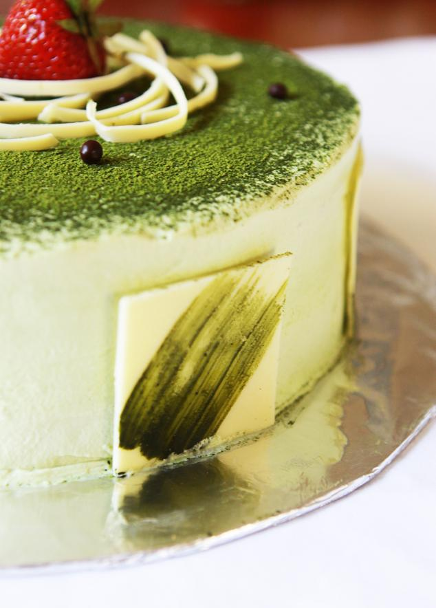 gourmet baking green tea ice cream cake