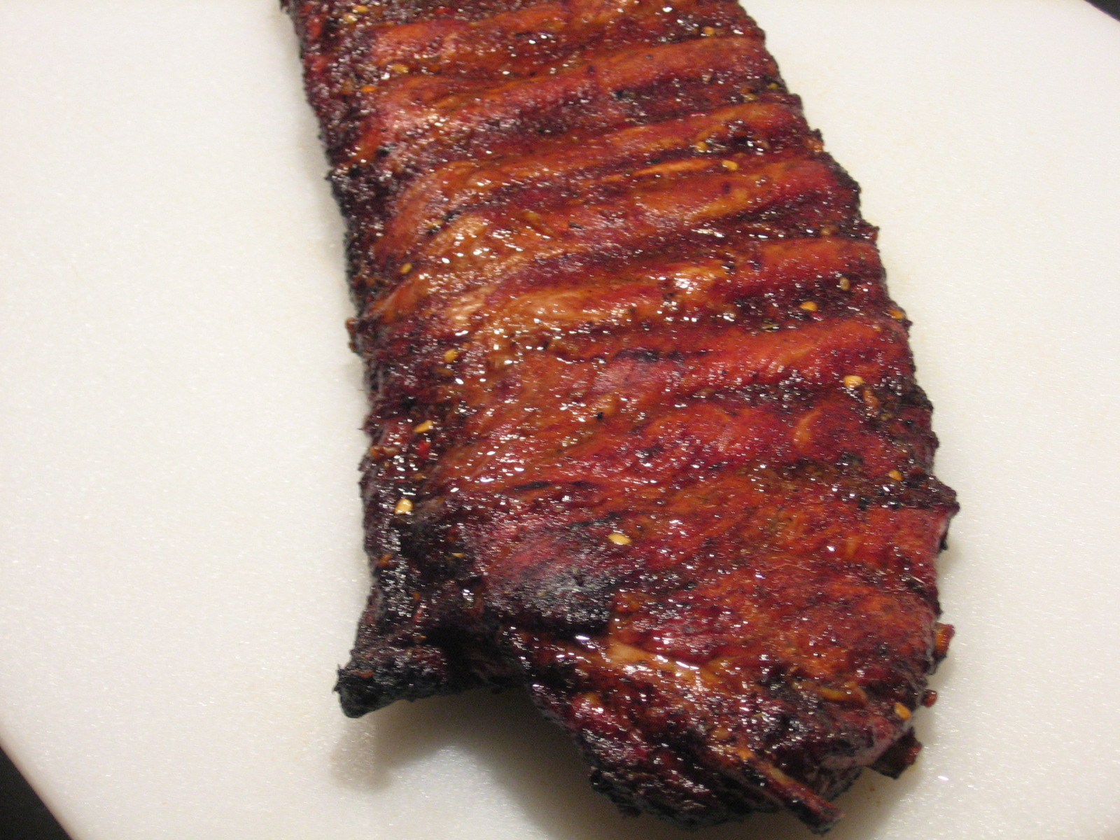 Vanilla Bean Ribs With Dry Rub And Sweet And Sour Mop