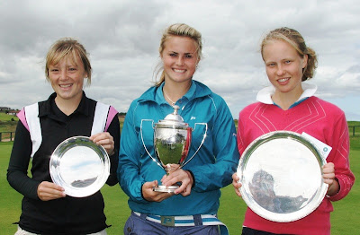 Megan Briggs, Carly Booth and Ainsley Reid Salver winner Gabrielle MacDonald (Prestonfield)--- click to enlarge