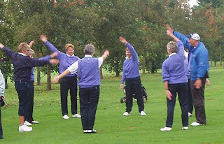 The Scottish Team limber up