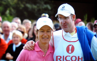 Catriona Matthew and Caddy - Husband Graeme