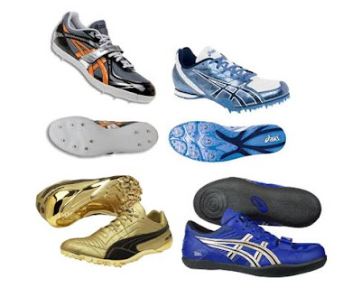 bb88c124a Existe uma vasta oferta de sapatos de bicos desenhados para modalidades  específicas, tais como; velocidade, meio fundo e fundo, saltos, corta-mato  e ...