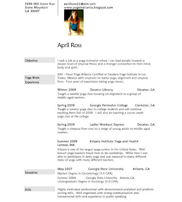 Yoga Instructor Resume Inspirational Teacher Examples