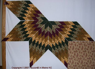 five points of Lone Star quilt