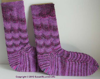 purple waves socks