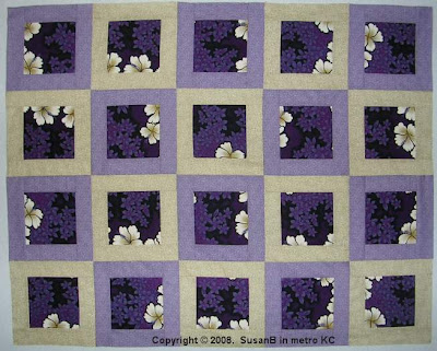Framed Purple Floral quilt