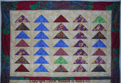 one-seam flying geese quilt