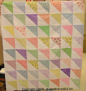 triangle-squares quilt top