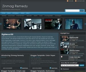 Zinmag Remedy Blogger Template
