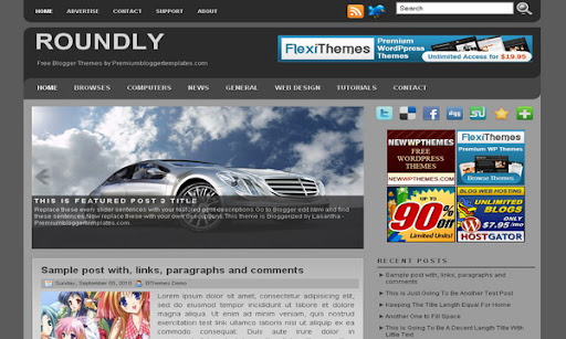 Roundly Blogger Template