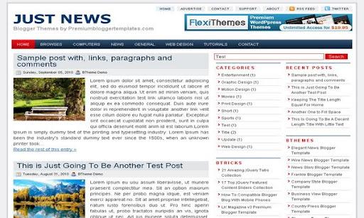 Just News Blogger Template