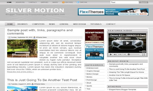 Silver Motion Blogger Template