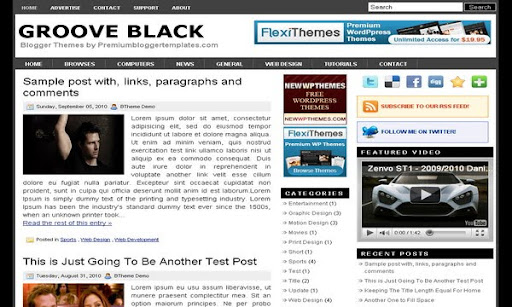 Groove Black Blogger Template