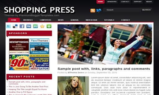 Shopping Press Blogger Template