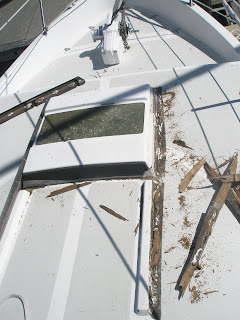 Stories Of Aeolus Our Gulf 32 Pilothouse Begin Forward Sliding Hatch Replacement