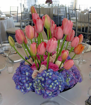 Terrific Chicago Wedding Flowers Tulip Rose And Hydrangea Centerpiece Download Free Architecture Designs Intelgarnamadebymaigaardcom
