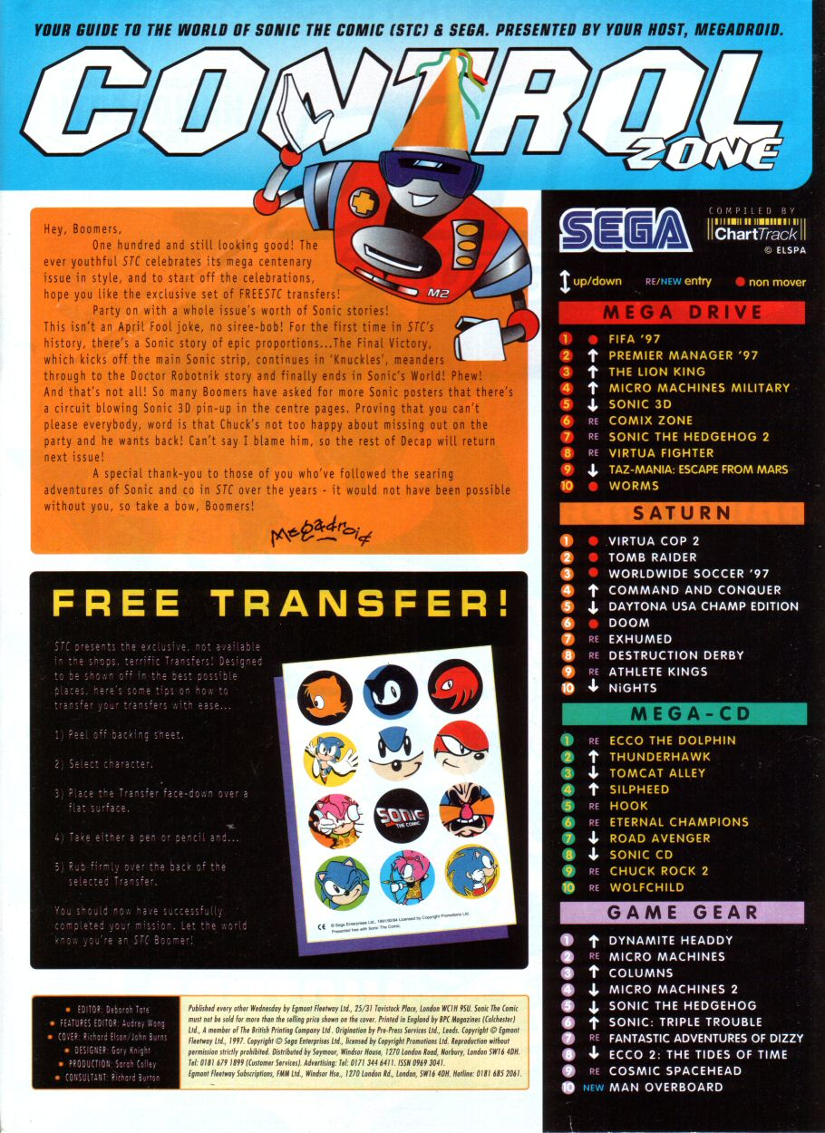 Read online Sonic the Comic comic -  Issue #100 - 2