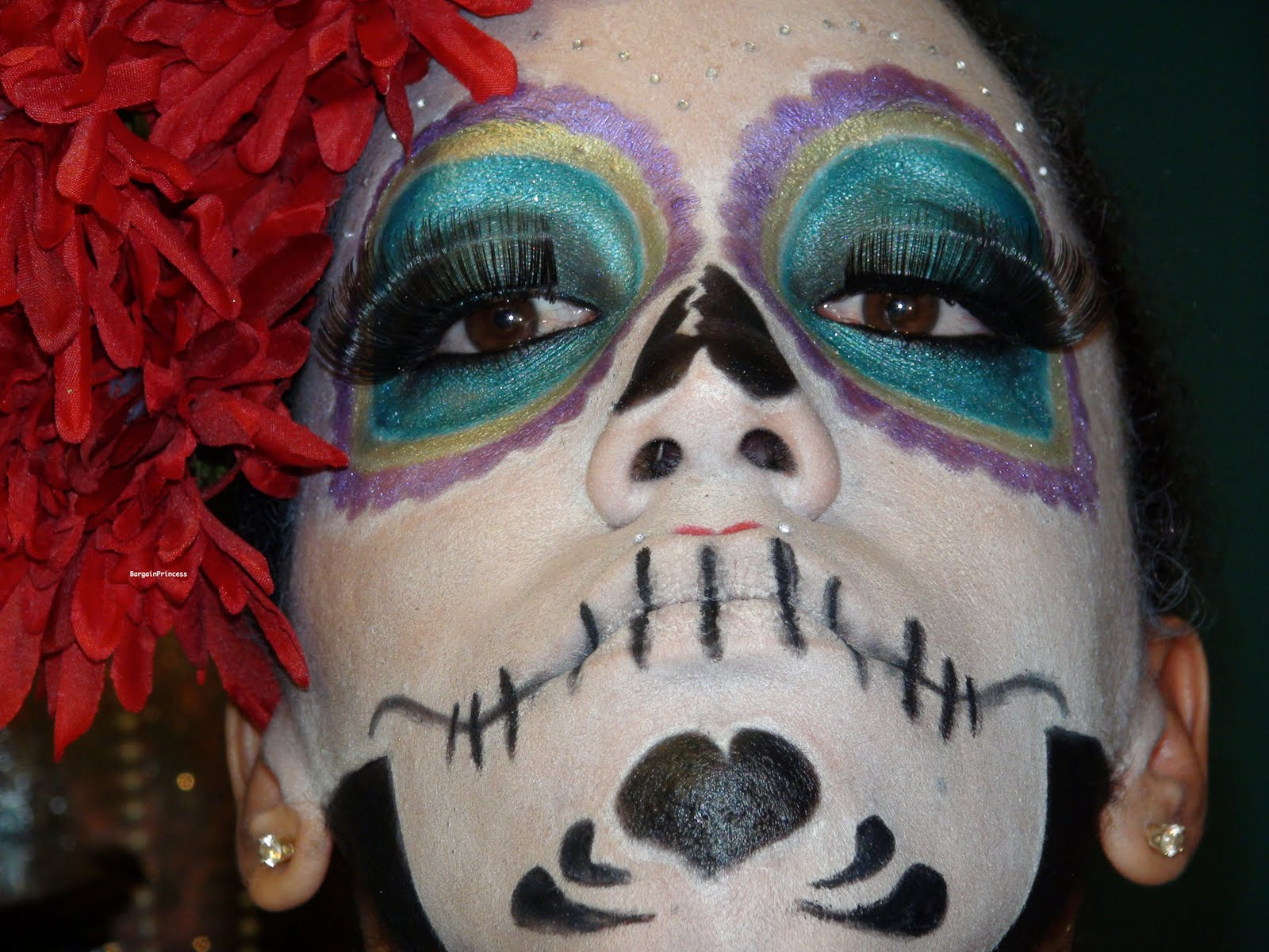 Candy skull makeup