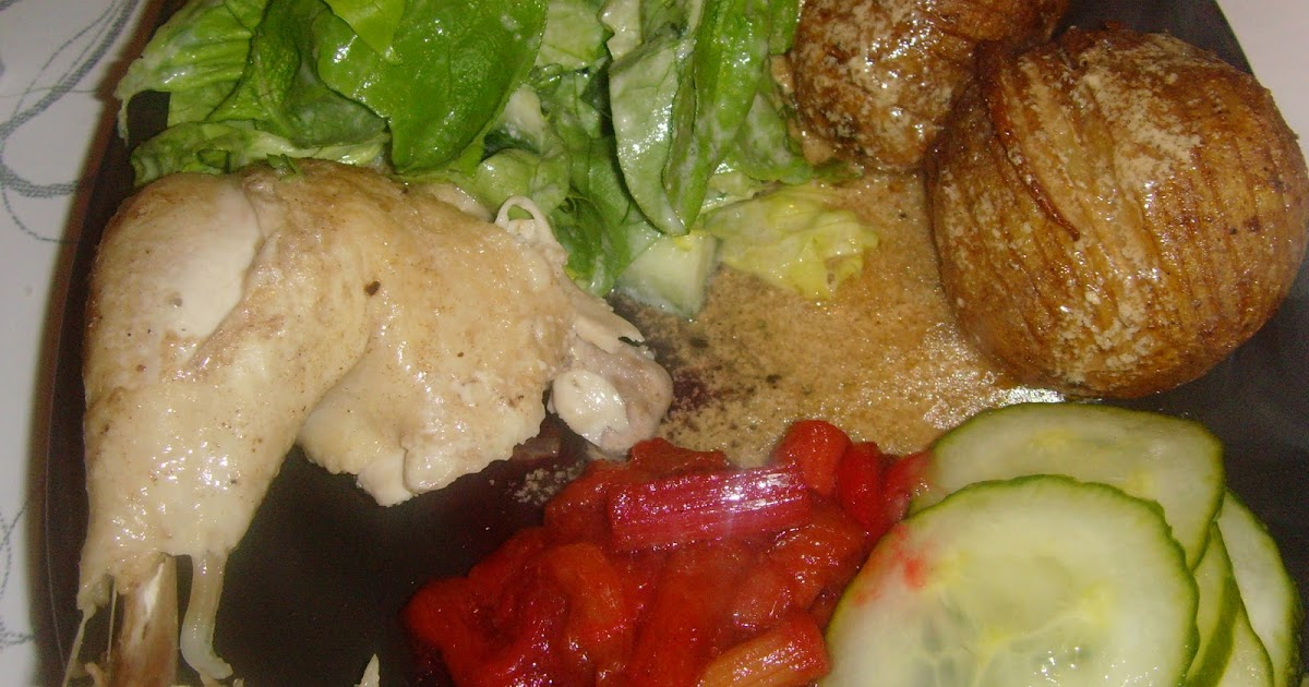 Mig og Maj: Gammeldaws kylling med skilt sauce og rabarber kompot...