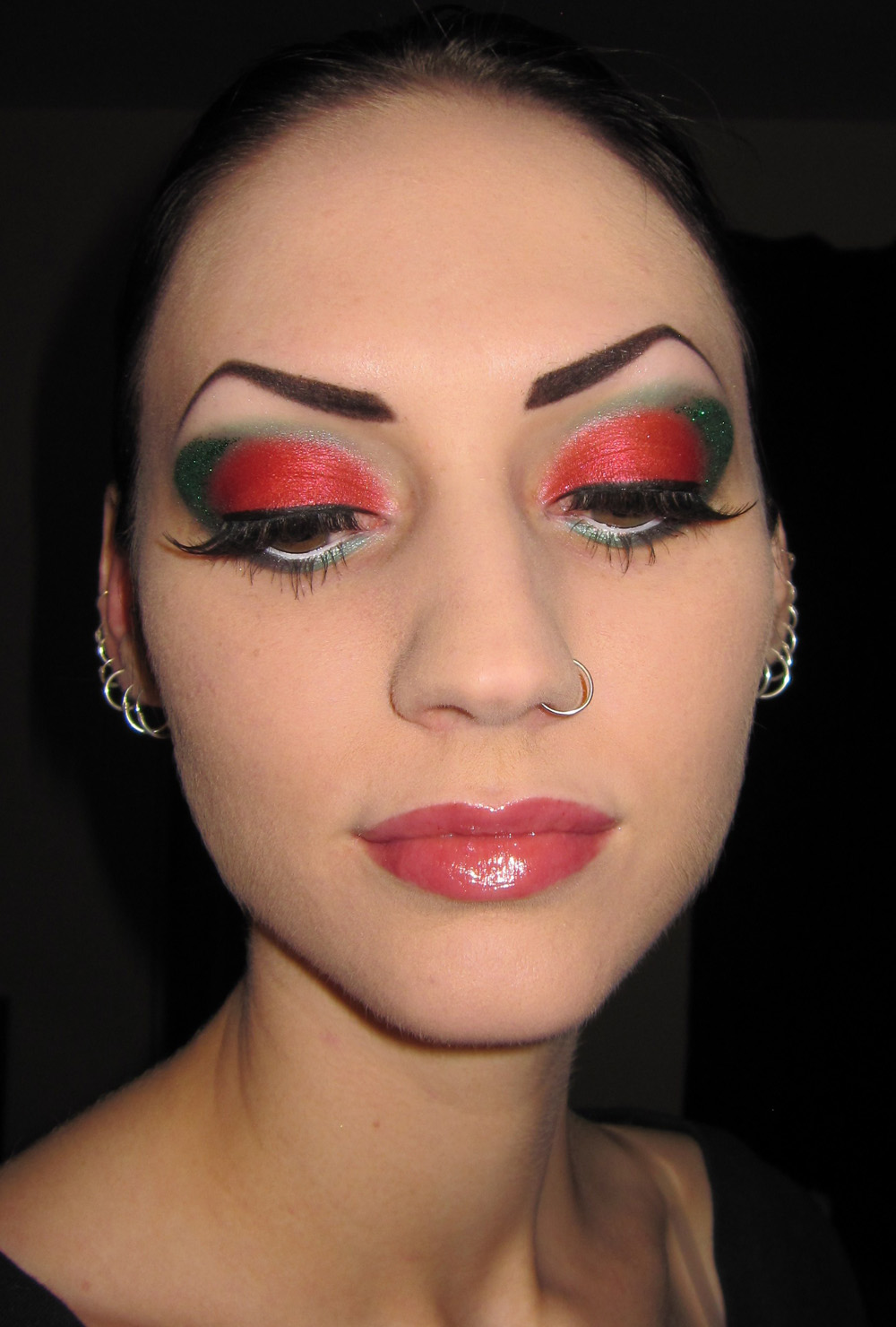 Glitter Is My Crack...: Red And Green Glitter Christmas