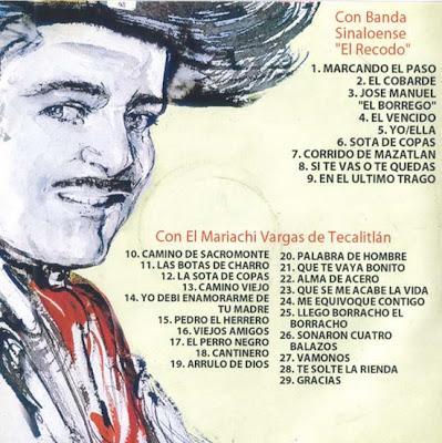 Banda El Recodo - Con Jose Alfredo Jimenes (1990) (Disco Oficial)