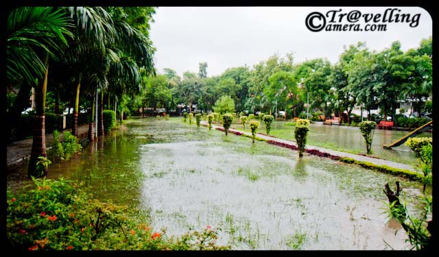 Noida parks flooded with water after rains 2010 - Sector-26 : Monsoon Effect in Noida : Posted by VJ SHARMA at www.travellingcamera.com : This weekend I had to go for a Photo-Walk at Old Fort in Delhi but due to heavy rains I canceled that program and woke up at 11:30 am on Sunday... After that I came out and noticed that many areas in my sector were flooded with water and the park near my house was completely filled with rain water in it.. Here are few photographs of the Sector-26 park after rains on Sunday...Here was the first few I saw in the morning... and then want back to my room to have Camera for capturing these moments :-)One part of Sector-26 park in Noida... where everything is flooded in water and one can walk on the concrete pathways on all four sides...I have seen worst condition of Noida after rains this year... I have been staying here for last 5 years and never seen this kind of after-effects of rains... Noida which is short for the New Okhla Industrial Development Authority, is an area under the management of the New Okhla  Industrial Development Authority... Noida has first-class amenities and is considered to be one of the more modern cities of Uttar Pradesh State of India. It is also home to the Noida Film City...Arre bhai kahan jaoon.. har jagah Paani hi Paani...Fresh green leaves after rains...When it rains, look up rather than down. Without the rain, there would be no rainbow...Noida is a major hub for multinational firms outsourcing IT services... Many large Software and Business Process Outsourcing (BPO) companies have their offices in the city...Generally noida is green and well planned as compared to other cities in UP.... although many of outsiders don't find it a good city to live...Here is the bench where we used to spend lot of time after dinner... Many times plan for morning walks but finally stick to this bench....Rains, Rains go away... please...some reflections inside the water... Hope it gets dry in short time...Reflection of colorful benches in Sector-26 Park in Noida...Water, Water... Everywhere water... no place to sit and no place to play around...Can we store this water somewhere? Many times I see folks in Sector-26 who waste lot of water for washing their multiple cars in summers when some of the areas in Noida doesn't get enough water for their routine activities... but now rains have already washed their cars :-)Its sad that children were not able to enjoy/play outside due to these heavy rains... Check out more about Noida @ http://en.wikipedia.org/wiki/Noida