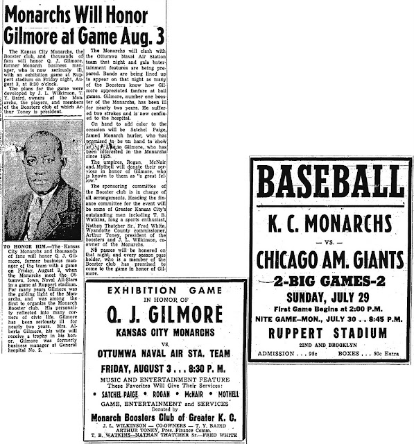 Jackie With The Monarchs: July 27 Kansas City Call Game
