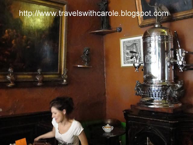 1902 cappuccino machine at Caffe Reggio in NYC