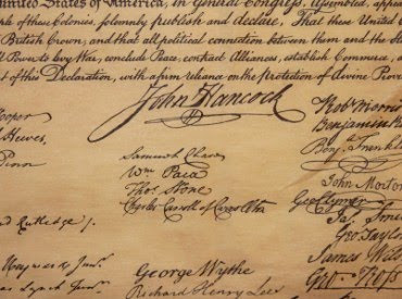 The Declaration of Independence  |Declaration Of Independence Signatures John Adams
