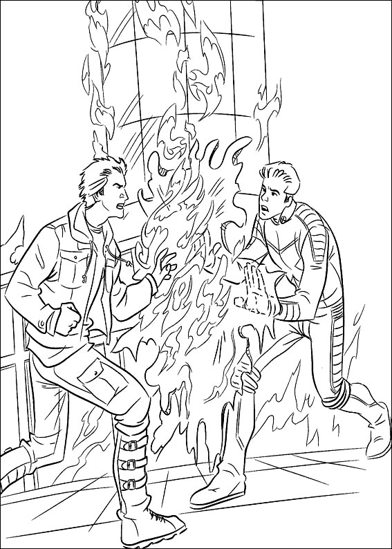 Find coloring pages of : Kids Under 7 X Men Coloring Pages
