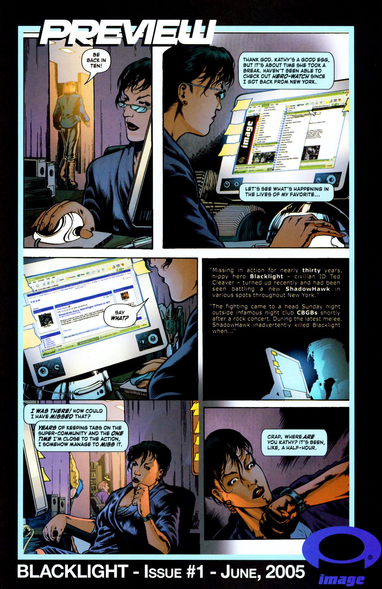 Read online ShadowHawk (2005) comic -  Issue #1 - 28