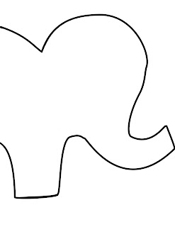 Jill made it stuffed animal elephants for Stuffed animal templates free