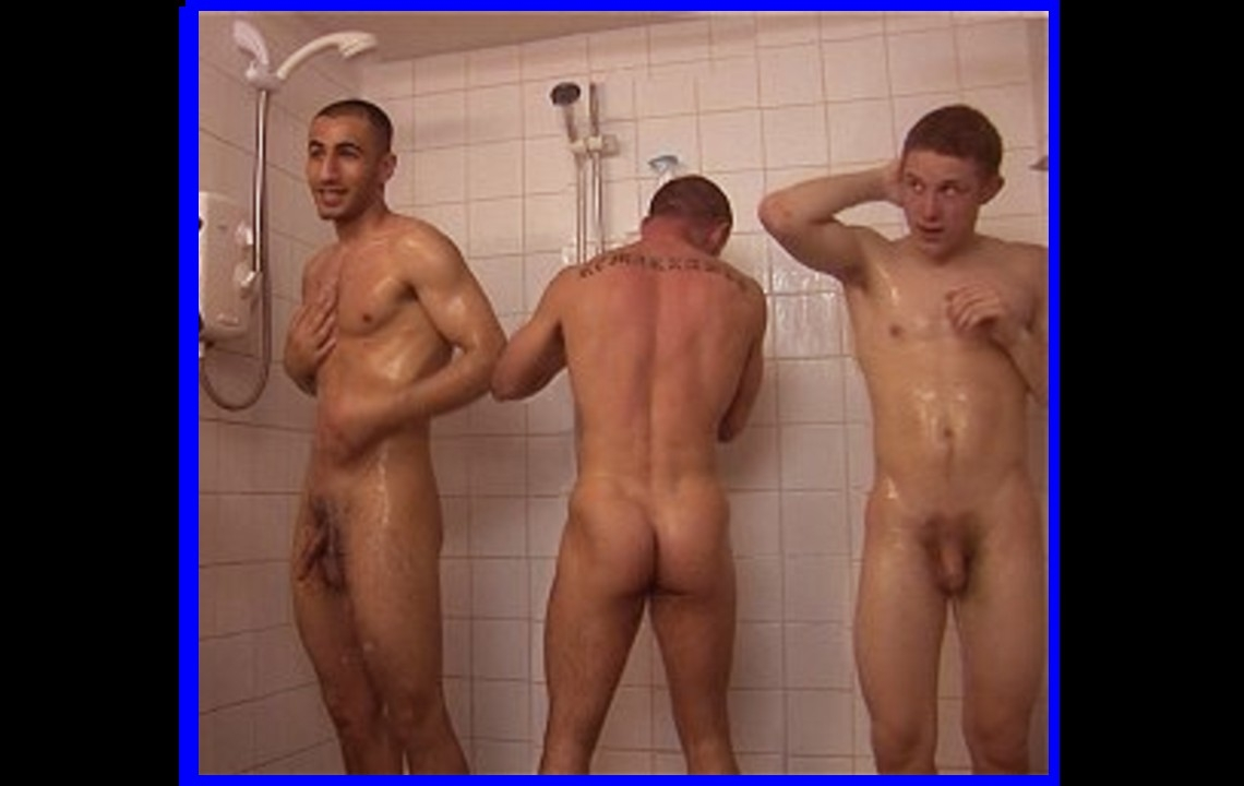 naked men in a locker room