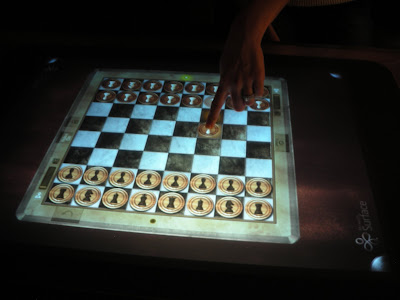 Electronic chess on the Veendam