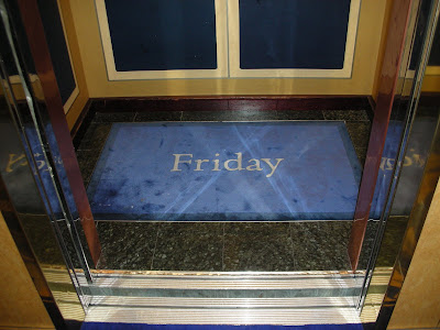 Day of the week elevator rugs
