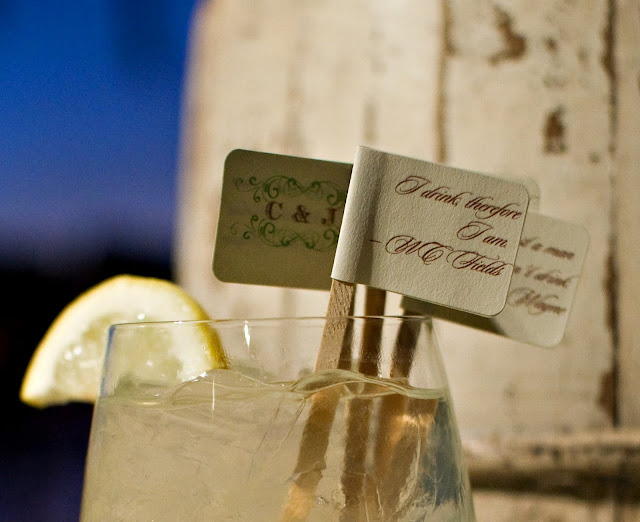 DIY drink stirs from Oh Lovely Day