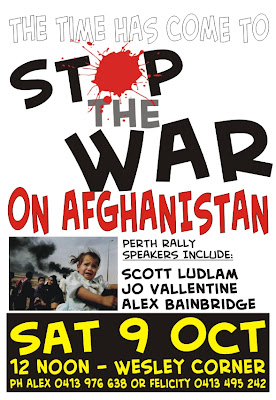 Stop the War in Afghanistan - Sat 9 Oct - please display images