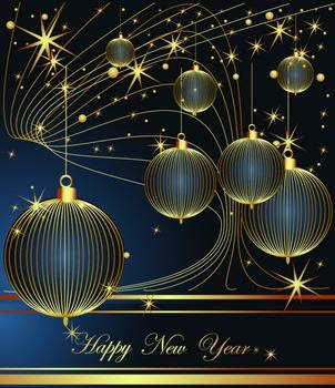 All Vector Design: Happy New Year Vector Decoration Element
