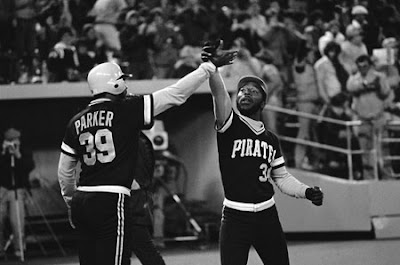 8d901ff091a The Pirates  John Milner gets the team s Home Run Handshake from teammate  Dave Parker in a game during the 1979 season.