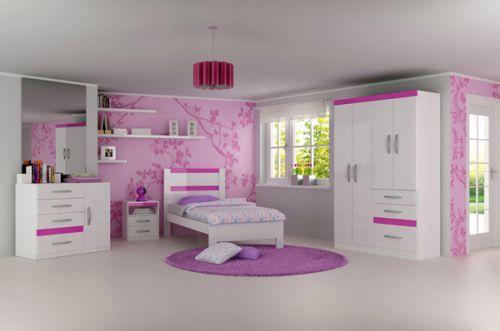 Quarto de menina cor de rosa, decoração, cor, estilos e muitas idéias