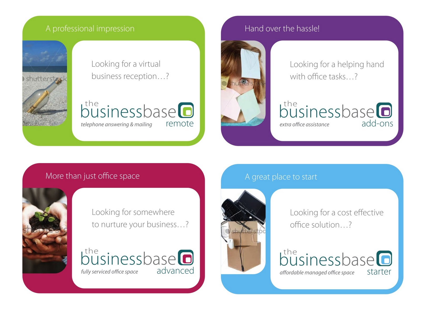 Branding And Postcards For The Business Base