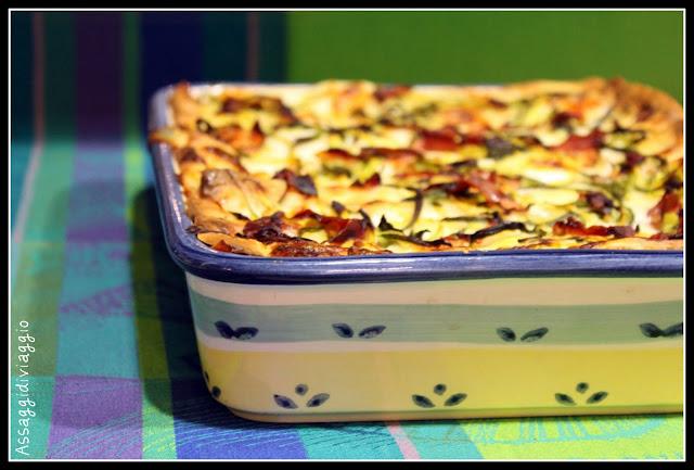 Lasagne zucchine, provola e speck