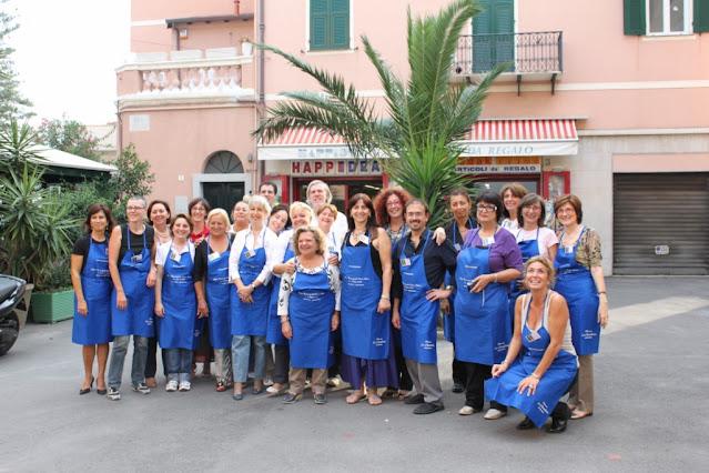 Foto di gruppo al Raduno del forum de La Cucina italiana a Bordighera