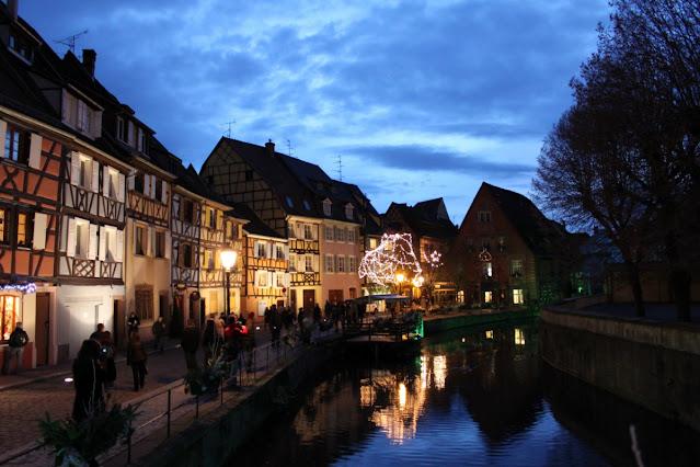 Petite Venise di sera-Colmar