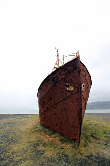 Relitto di una nave a Saudlauksdalur