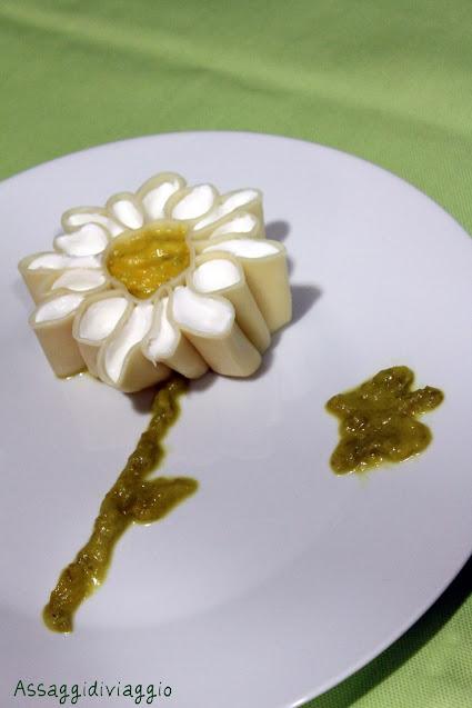Margherita di pasta ai peperoni