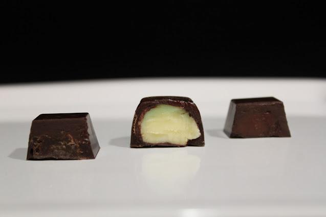 Cicoccoatino mojito, cioccolatino alla banana e cioccolatino al gianduia
