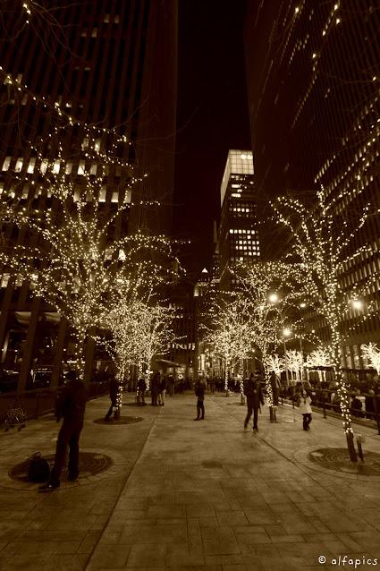 Luminarie natalizie-New York