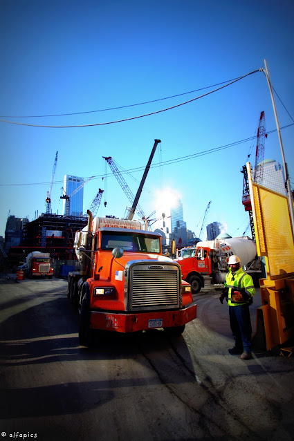 Ground zero e lavori di costruzione della Freedom tower-New York