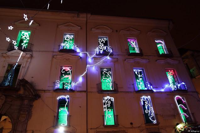 Luci d'artista a Salerno nel centro storico